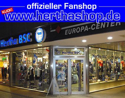 hertha bsc fanshop fanshop im europa center sport shopping berlin. Black Bedroom Furniture Sets. Home Design Ideas