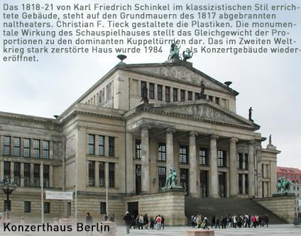 Konzerthaus Berlin Ehem Schauspielhaus Am Gendarmenmarkt Theater