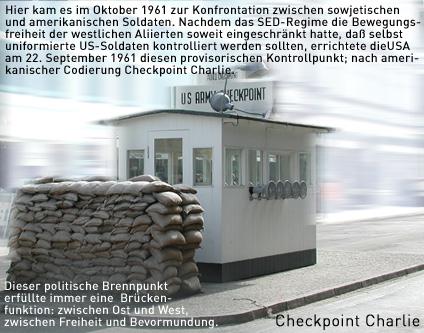checkpoint charlie ehemaliger grenz bergang sightseeing tourist info berlin. Black Bedroom Furniture Sets. Home Design Ideas