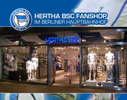 hertha bsc fanshop fanshop im berliner hauptbahnhof sport shopping berlin. Black Bedroom Furniture Sets. Home Design Ideas