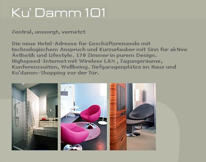 ku damm 101 hotel 3 sterne hotel alle essen trinken berlin. Black Bedroom Furniture Sets. Home Design Ideas